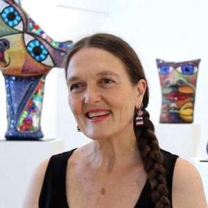 Headshot of the artist Deborah Halpern